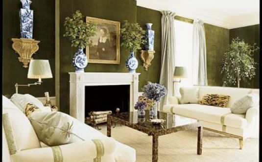 green walls and white sofas_TB