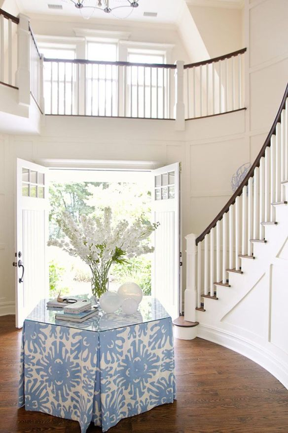 Blue and white entry by Amanda Nisbit via Sotheby's Realty