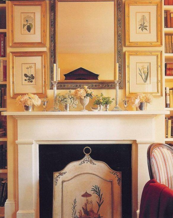 Charlotts Moss Gallery Wall Above Fireplace
