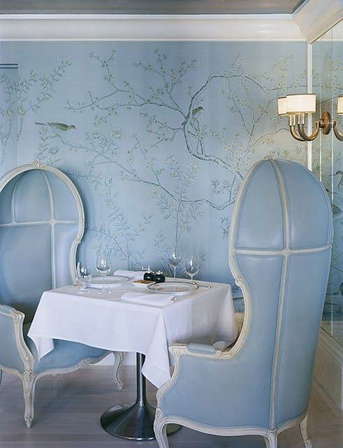 Gracie wallpaper at Bergdorf Goodman's designed by Kelly Wearstler