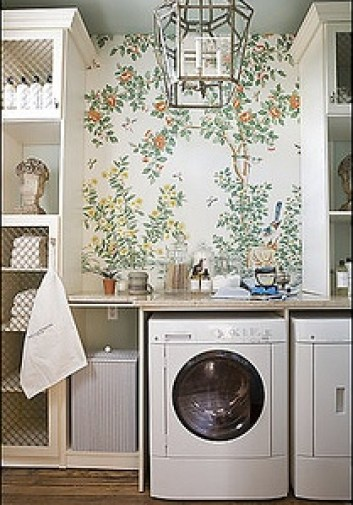 Gracie wallpaper in the laundry via DC Design House 2009