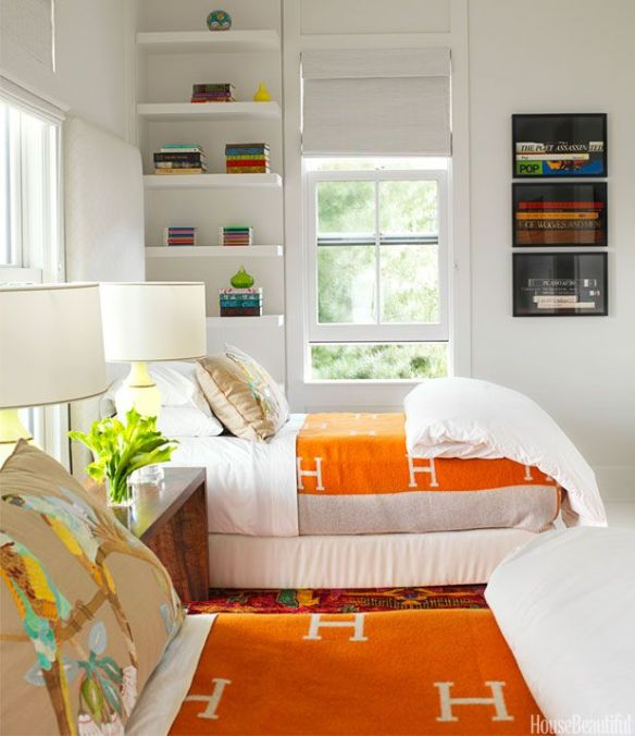 Hermes Blankets in Bedroom