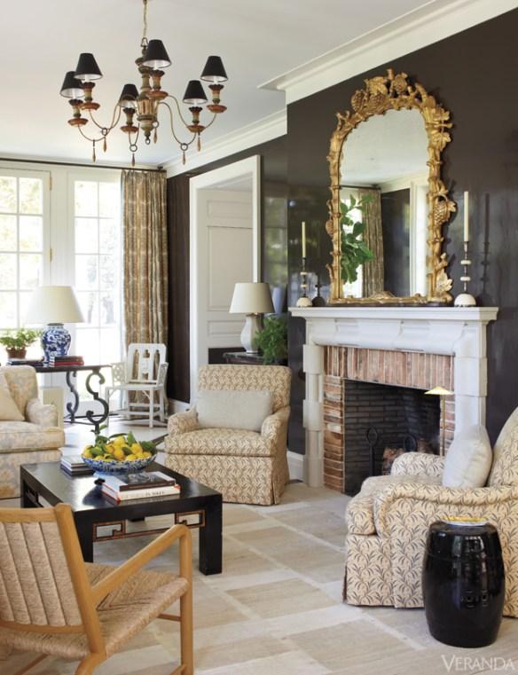 Nasville Boxwood Fireplace via Veranda
