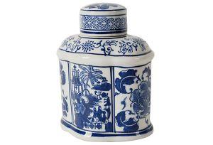 One Kings Lane Blue and White Ceramic Jar