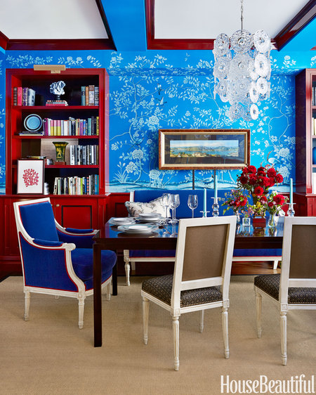 Red and Blue Dining Room