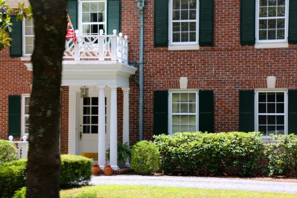 Red brick with green shutters pinehurst