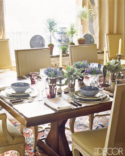 Tablescape in Charlotte Moss Aspen Home