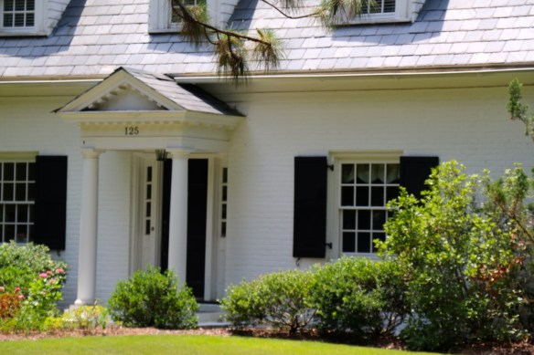 White House with Black Shutters in Pinehurst NC