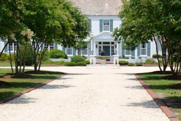 White House with Blue Shutters in Pinehurst NC