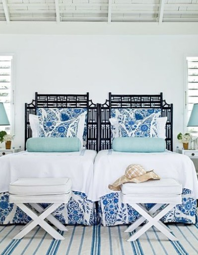 Beach House Guest Bedroom via Veranda