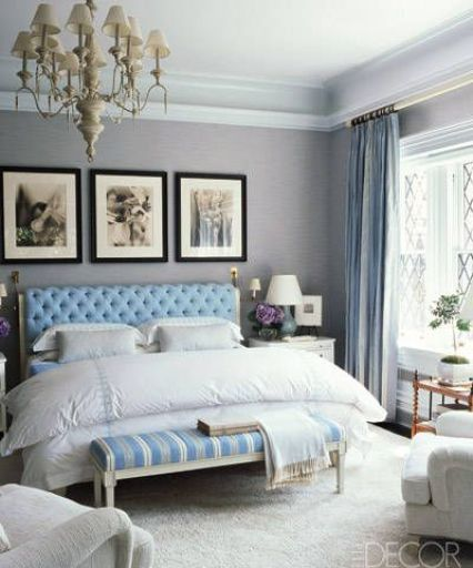 Bedroom by Steven Gambrel via Elle Decor