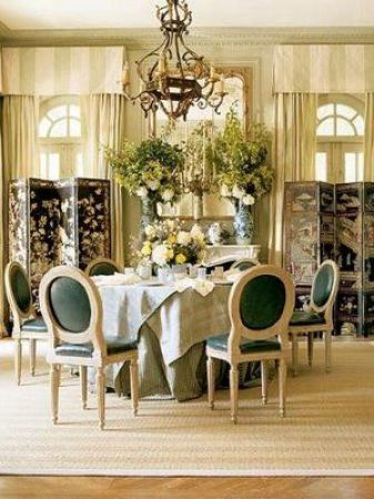 Charlotte Moss Dining Room via The Enchanted Home