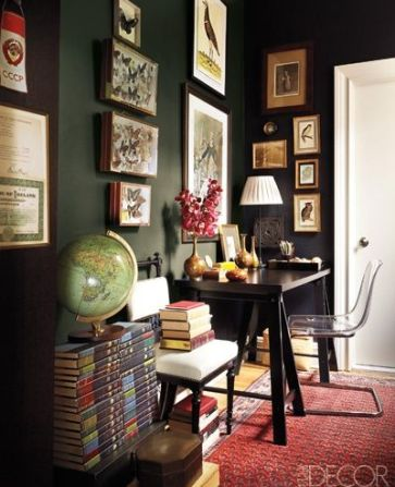 Elle Decor Study with Gallery Wall