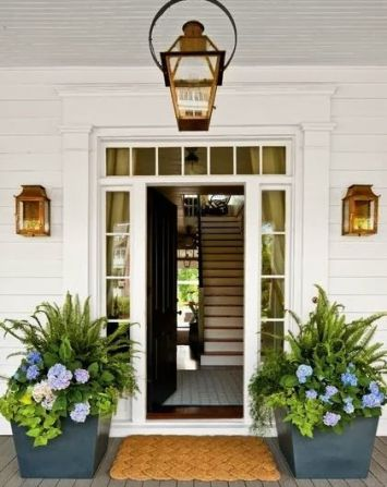 Hydrangeas with Ferns via House Beautiful