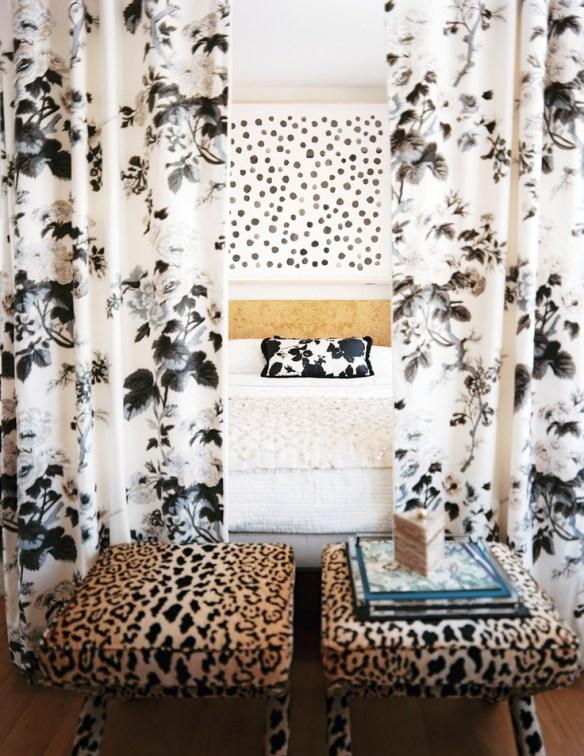 Michelle Adams Leopard Stools via Lonny