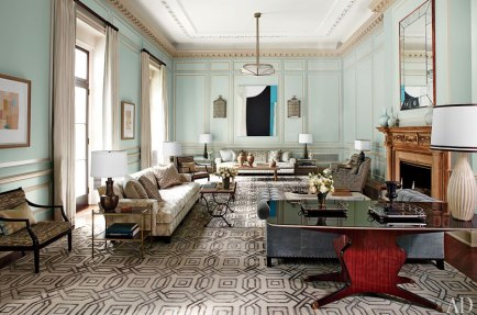 Steven Gambrel Living room in New York via AD