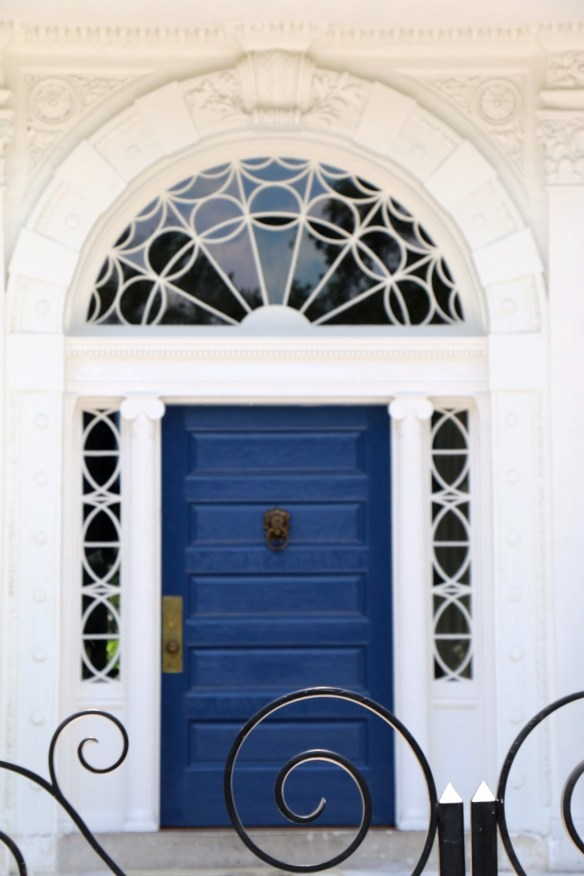 TPB blue front door in Charleston