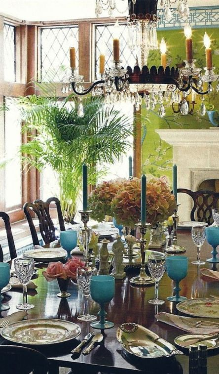 Tablescape and Dining Room by Ruthie Sommers via Laura Casey Interiors