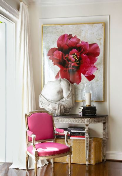 A Pop of pink in this richmond home by Suellen Gregory