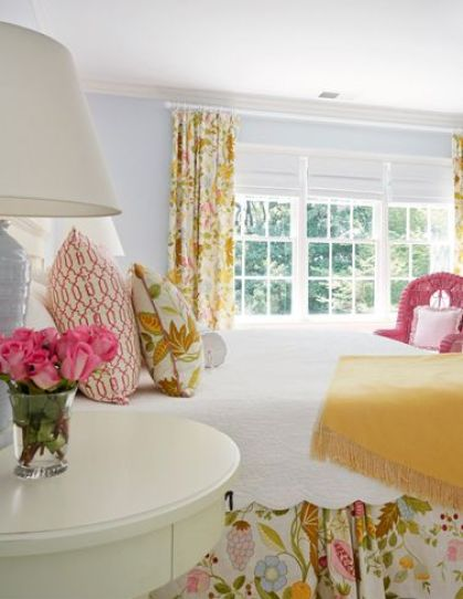 A cheerful bedroom by Suellen Gregory via her website