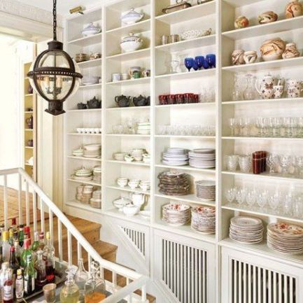 China up the stairs of this New York home of Jim Joesph and Scott Frankel via AD