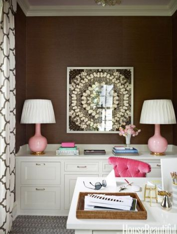 Christopher Spitzmiller lamps in Connecticut home by Ashley Whittaker via House Beautiful