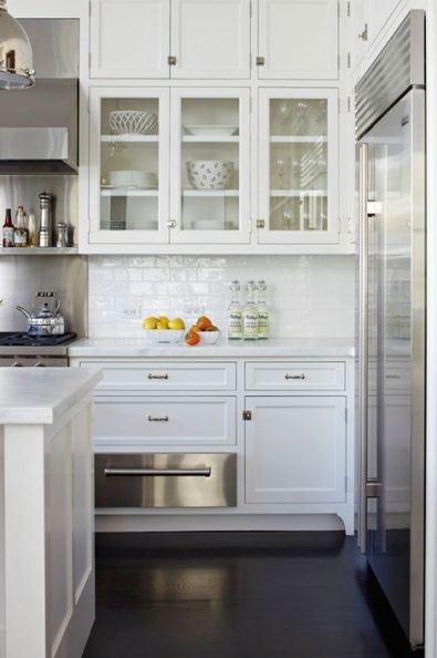 Clean and refined subway tile in this kitchen via Traditional Home