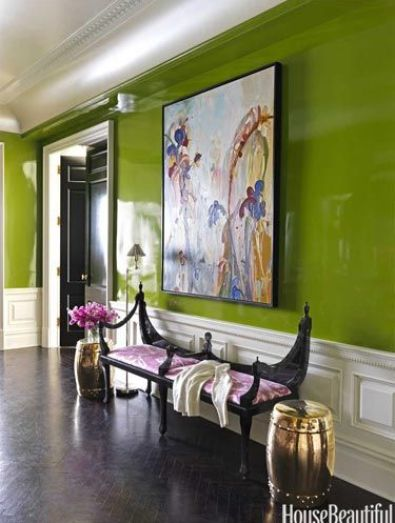 Fabulous Green laquer via House Beuatiful