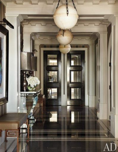 Hallway Entry of Apartment by Jean Louis Deniot via AD