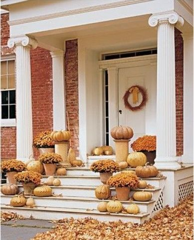Mums on Porch Entry via Pinterest