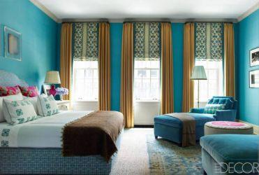 A Manhattan bedroom by Katie Ridder in Elle Decor
