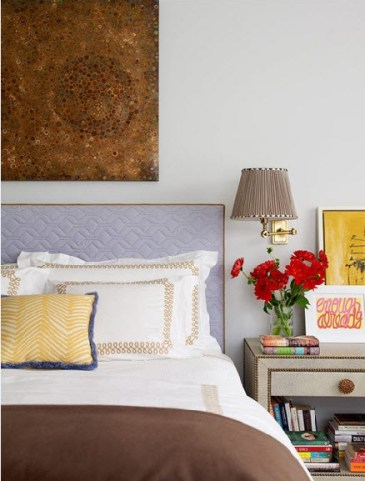 A chic bedroom of color and soft pattern by Katie Ridder via Flickr