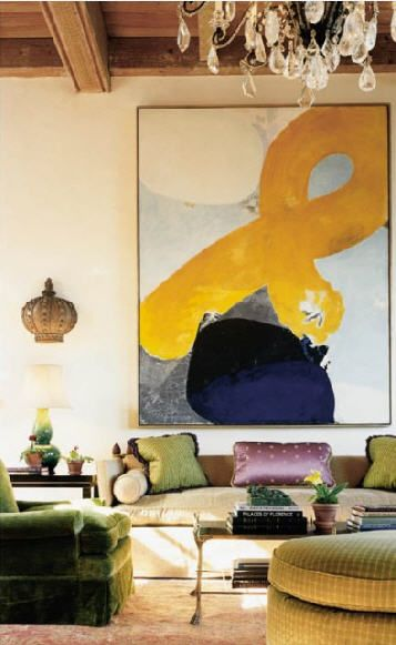 A chic living room by Katie Ridder via Habitually Chic