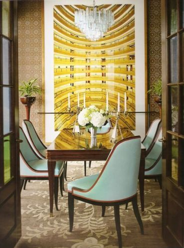 A dining room by Katie Ridder via Quintessence Blog