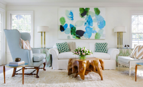 Blues and Greens of Beauty in Dallas via D Home Magazine