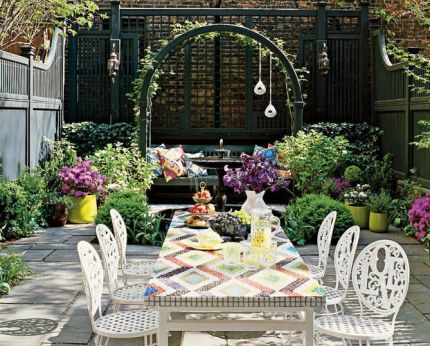 Jonathan Adler designed patio