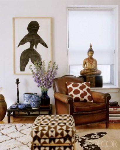 Madeline Weinrib's home via Elle Decor