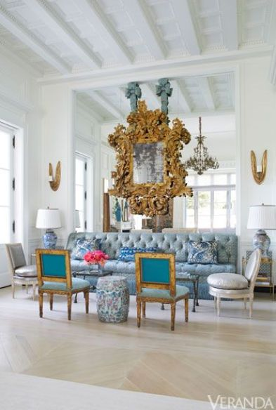 Mirror on Mirror in Dallas home designed by Beverly Field via Veranda