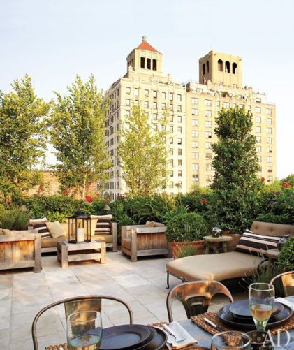 NYC terrace and spacious rooftop garden