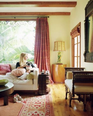 Pug in a room featured in Elle Decor
