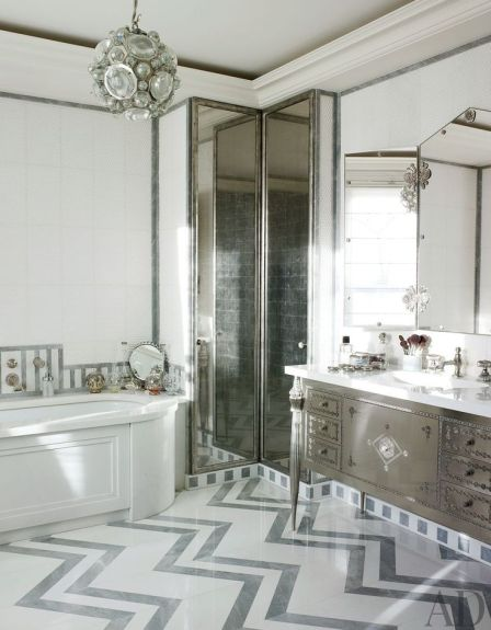 A beautiful bathroom by Jacques Grange