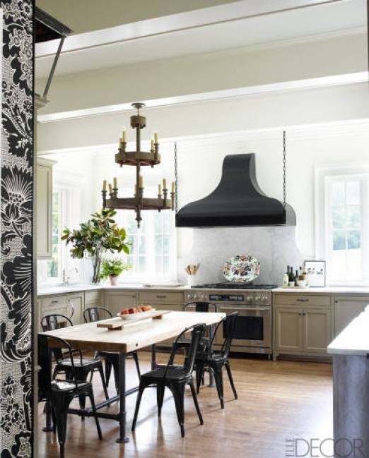 A sophisticated kitchen in the Nashville by Brookschmidy and Coleman in Elle Decor