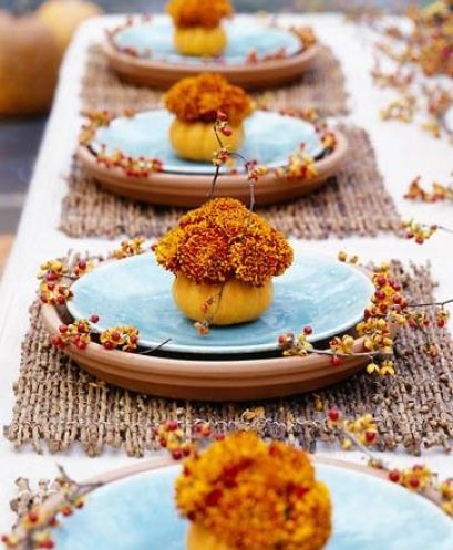 A sweet tablescape for thanksgiving