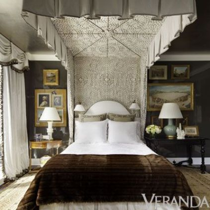 Bedroom by Alexa Hampton via Veranda Magazine