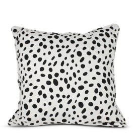 Black and White Spotted Pillow from Furbish Studio
