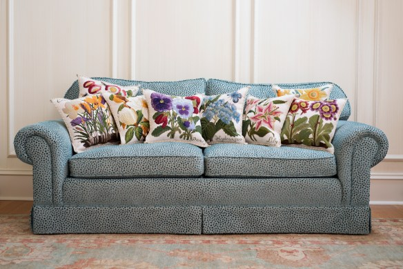 Cream Collection of Needlepoint Pillows by Elizabeth Bradley Home