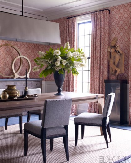Dining room of a Connecticut home by Thom Filicia via ED