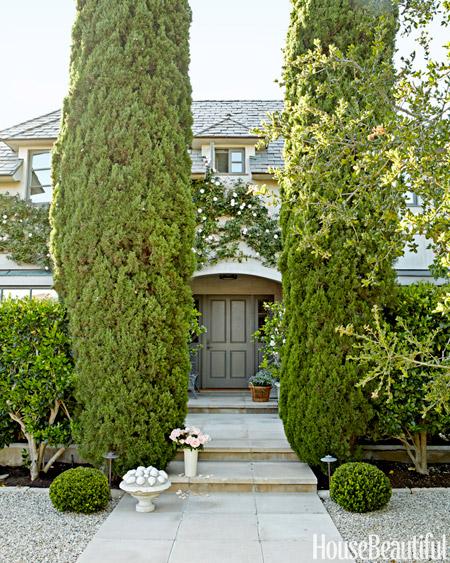 Front door of Barbara Barry CA home via HB