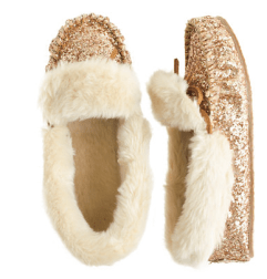 Girl's glitter lodge mocassins by crew cut