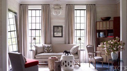 Living area by Thom Filicia via ED